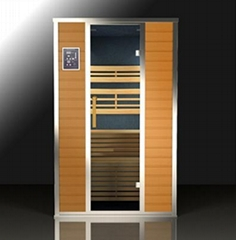 360 degree total surround infra red sauna room