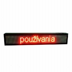 Indoor led text display RGY color 2 lines