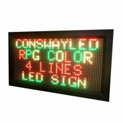 Semi-outdoor led electronic display RGY color 4 lines