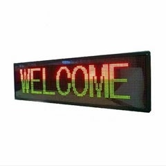 Indoor led shop sign RGY 3 color 4 lines