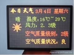 indoor dual color LED display