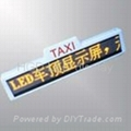 LED taxi top display signs