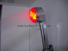 illuminated led shower head