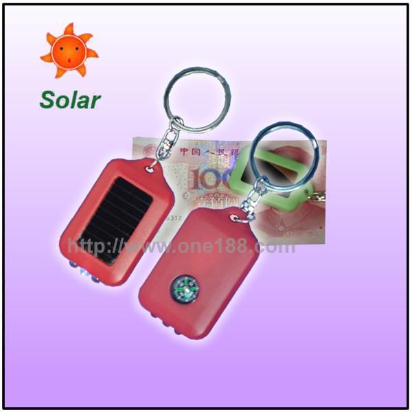太阳能迷你验钞手电筒 太阳能钥匙扣 3