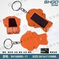 指南针2灯手电筒,太阳能手电筒 广告促销礼品 1
