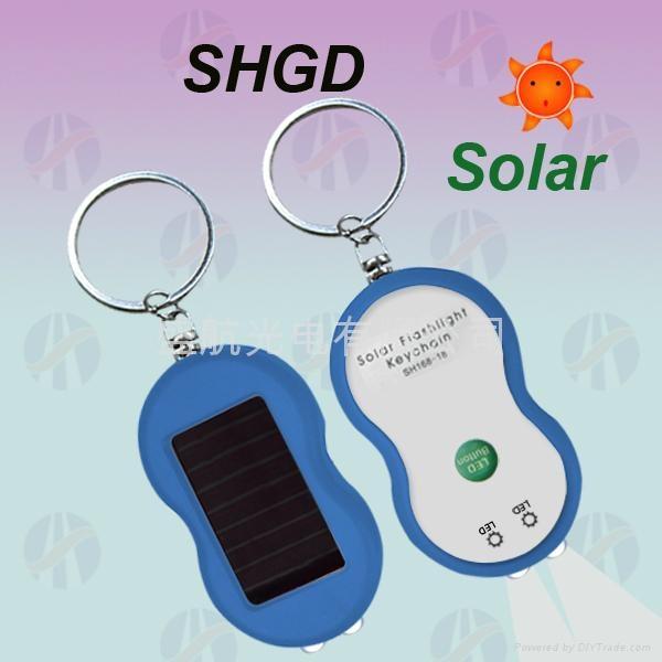 太阳能钥匙扣手电筒 1