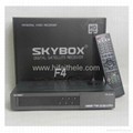 Original Skybox F4 Full HD with GPRS function,VFD Display support usb wifi weath