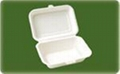 biodegradable bagasse food container/clamshell/lunch box 1