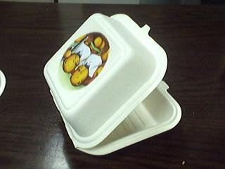 biodegradable bagasse food container/clamshell/lunch box 5