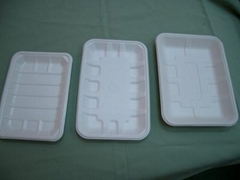 Biodegradable fibre food tray/meat tray