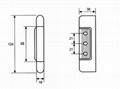 H-204A Stainless Steel Edgemount Hinge 2