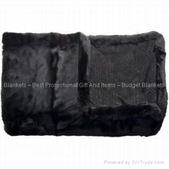 Luxurious Leather/Faux Fur Throw