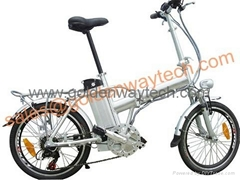 folding electric bicycle with lithium battery