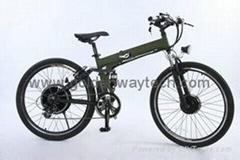 GEARED HUB MOTORFOLDING ELECTRIC BIKE/BICYCLE MOUNTAIN -MEB-001B