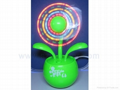Flower USB & Battery LED Colorful Fan