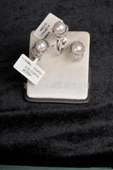 珍珠戒指,耳环