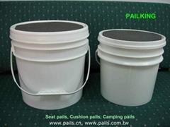 *Cushion pail, Fishing pails, Camping pails