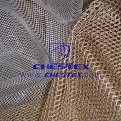 metallic fabric,mesh fabric