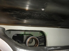 油田集气设备磨损现场恢复尺寸