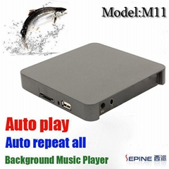 M11 shops stores background music player