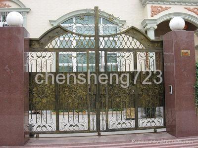 Hot galvanized wrought iron gate 1