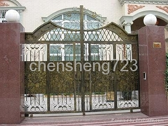 Hot galvanized wrought iron gate