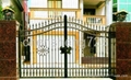 Hot galvanized wrought iron gate 4