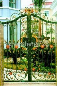 Hot galvanized wrought iron gate 5