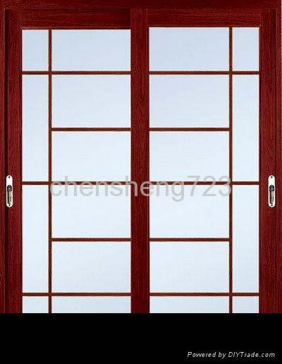 Customized Red Walnut aluminum Doors 1