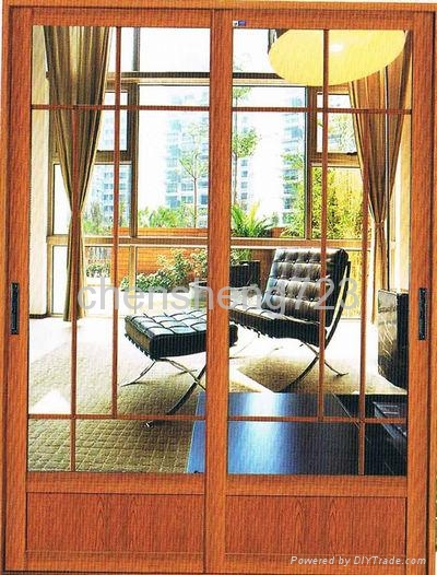 Customized Red Walnut aluminum Doors 2