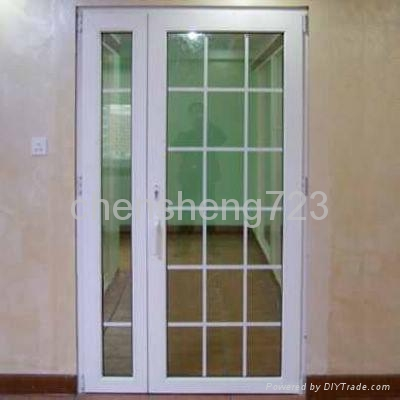 Upvc french door ts 005 tiansheng china manufacturer for Plastic french doors