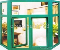 Aluminum tilt and turn windows (Thermal Break) green color