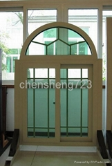 Aluminum arch window