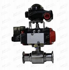 KLKD-Q681F-10P气动卡箍式卫生球阀