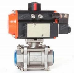 KLKD-Q611F-16P气动3P丝扣球阀