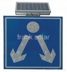 Solar Traffic Warning Light