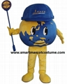 World Earth Globe Mascot