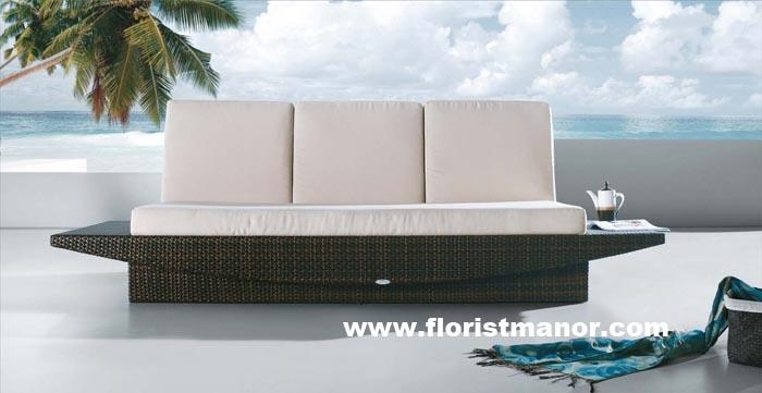 Top end rattan garden patio outdoor furniture sofa set and chaise ...