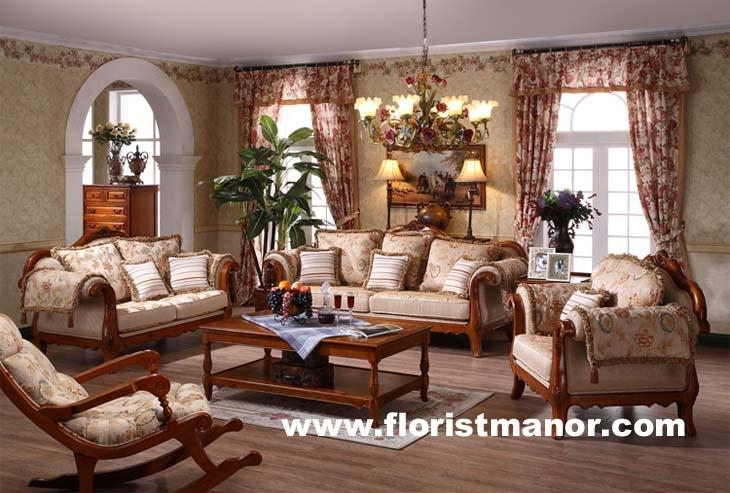 Full solid wood wooden home living room furniture sofa set - LM03 ...