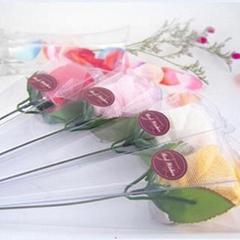 毛巾礼品-单支玫瑰花