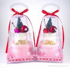 圣诞礼赞毛巾蛋糕—圣诞来了