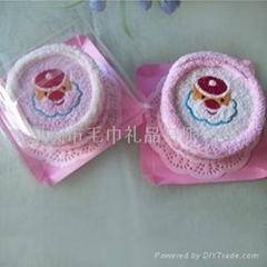 圣诞系列蛋糕毛巾---圣诞节礼物
