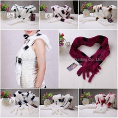 Rabbit Fur Scarves Fur Scarf Fur Shawl