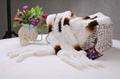 Rabbit Fur Scarves Fur Scarf Fur Shawl With Flowers Fur 7 Colors 3