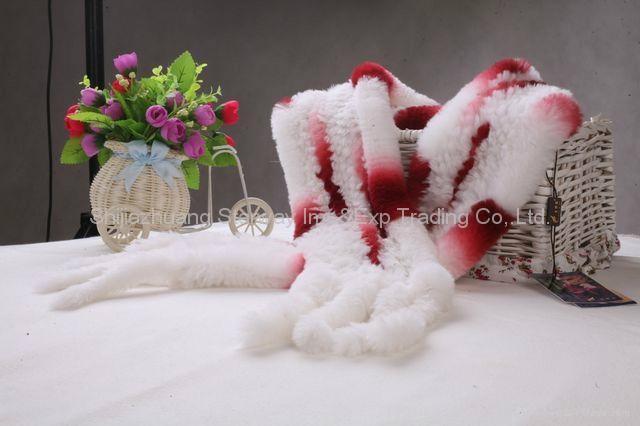 Rabbit Fur Scarves Fur Scarf Fur Shawl With Flowers Fur 7 Colors 5