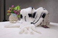 Rabbit Fur Scarves Fur Scarf Fur Shawl With Flowers Fur 7 Colors 4