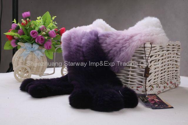 Rabbit Fur Scarves Fur Scarf Fur Shawl With Flowers Fur 11 Colors  2