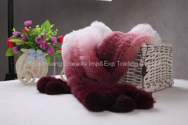 Rabbit Fur Scarves Fur Scarf Fur Shawl With Flowers Fur 11 Colors  3