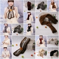 08Y Mink Fur Scarves Mink Fur Scarf Mink Fur Wraps Fur Shawl Mink Knitted Scarf  1