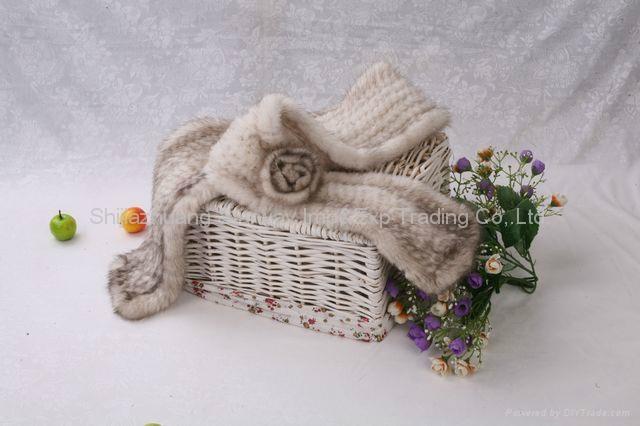 08Y Mink Fur Scarves Mink Fur Scarf Mink Fur Wraps Fur Shawl Mink Knitted Scarf  2